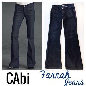 CAbi 146 Farrah Flare Dark Trouser Jeans Size 6